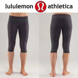 Lululemon Integrity Coal Gray Yoga Crop Leggings